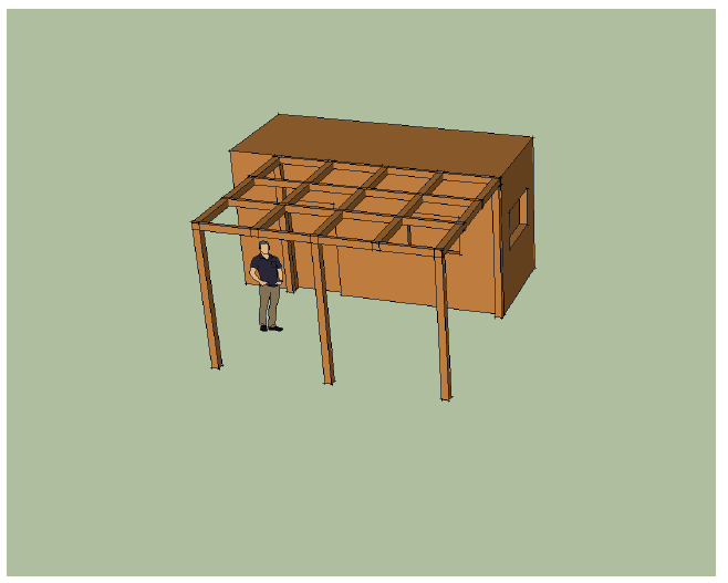 tuinhuisje pergola cabin