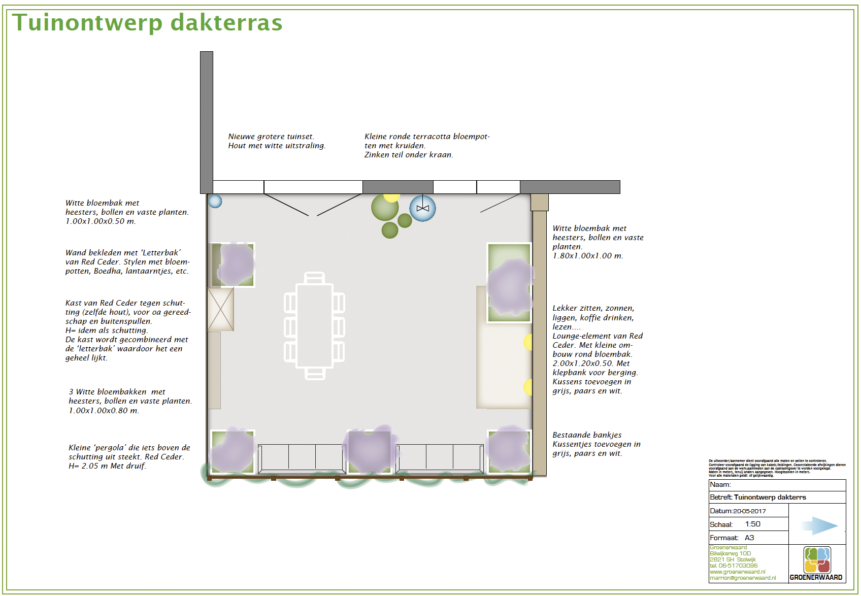 dakterras ontwerp tuin daktuin ©Groenerwaard