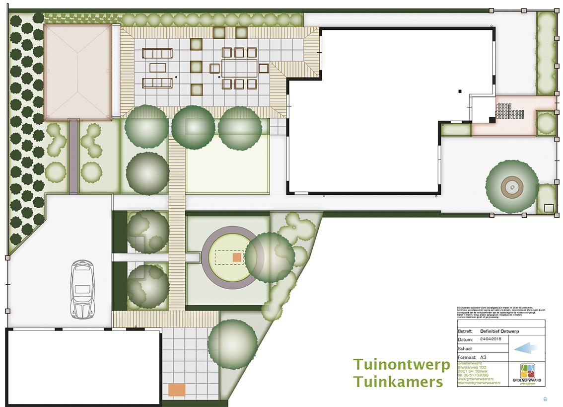 stolwijk tuinontwerp terras parkeerplaats meditatie tuinontwerper ©Groenerwaard