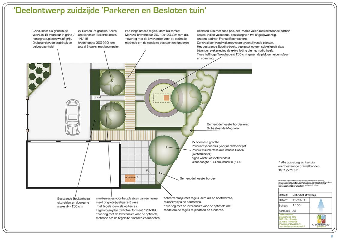 Stolwijk achtertuin parkeren meditatie terras boom ©Groenerwaard