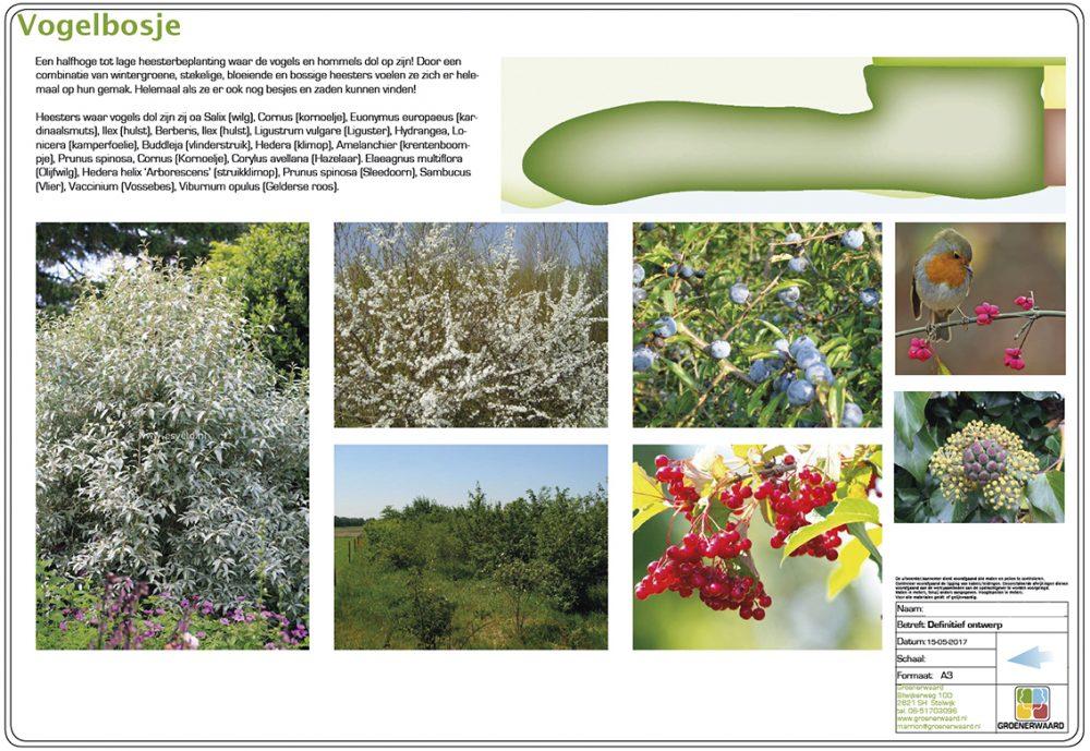 bergambacht landschappelijke tuin vogels bijen insecten bloemen zichtlijn uitzicht ©Groenerwaard