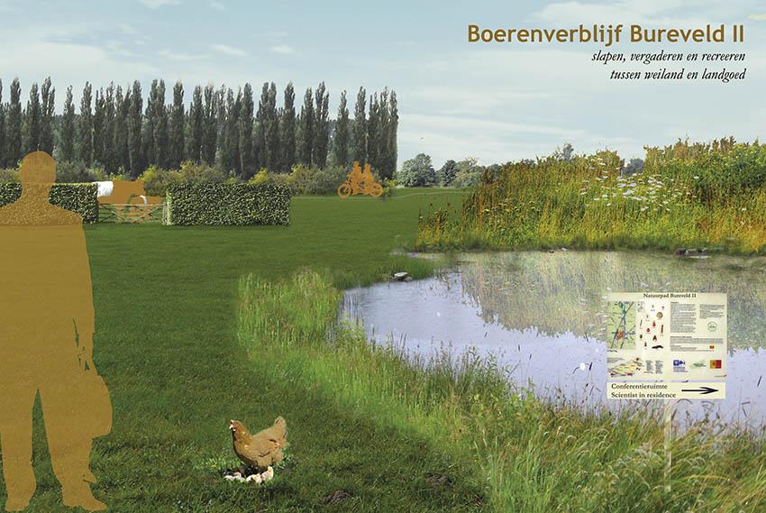 boerenverblijf_bureveld_analyse landgoed ontwerp landschap poster ©Groenerwaard