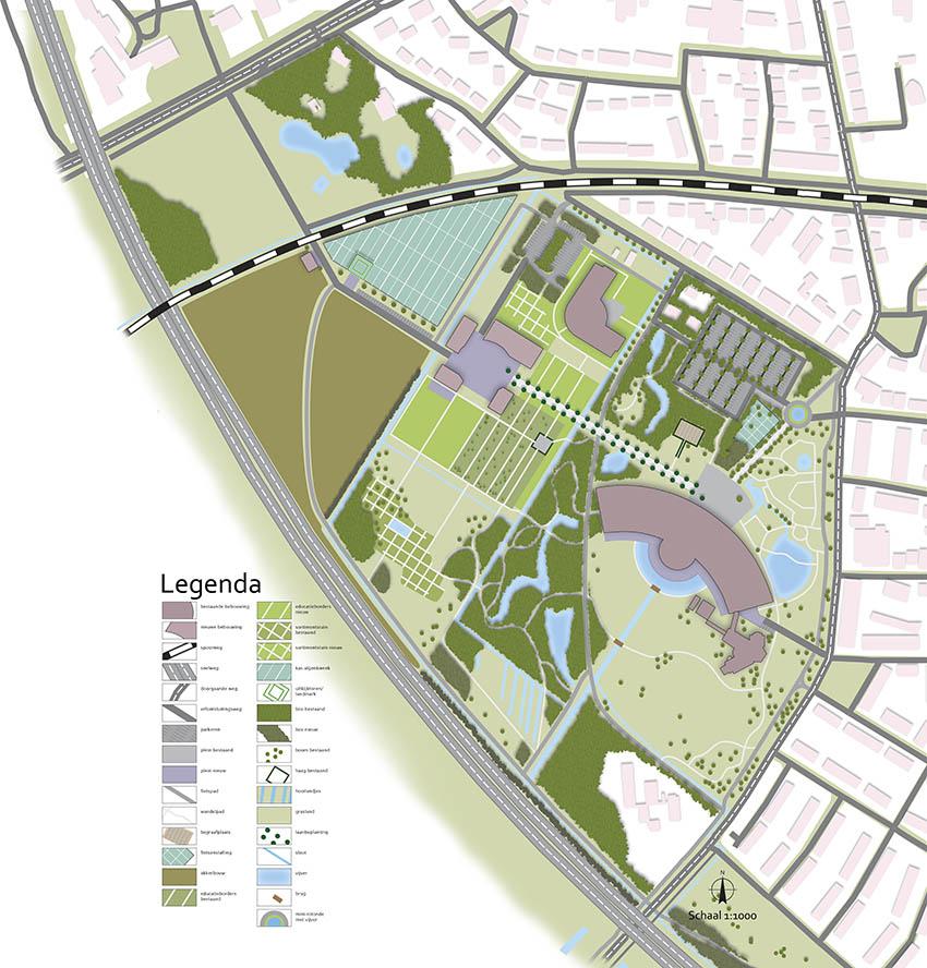 masterplan landschapsontwerp buurttuin ©Groenerwaard