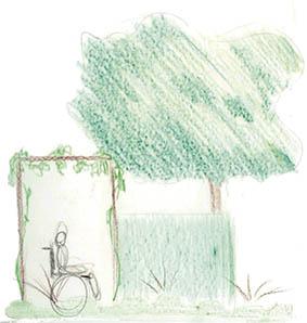 schets aanzicht tuinontwerper ©Groenerwaard