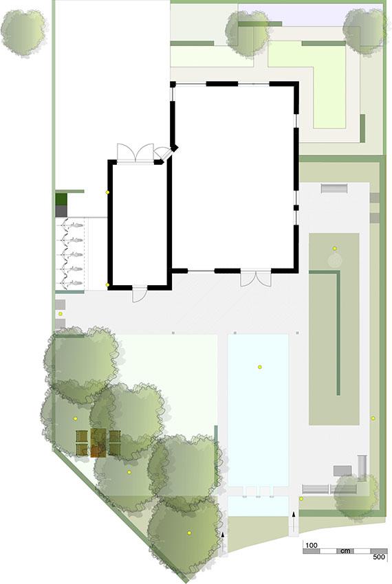 schets schetsontwerp tuin vijver tuinontwerp ©Groenerwaard