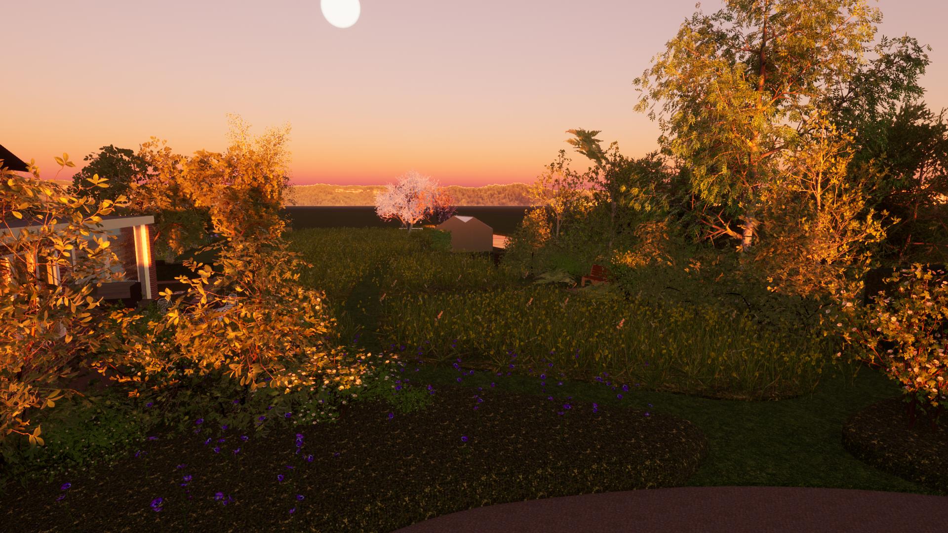 Genieten van de zonsondergang in de polder ©Groenerwaard