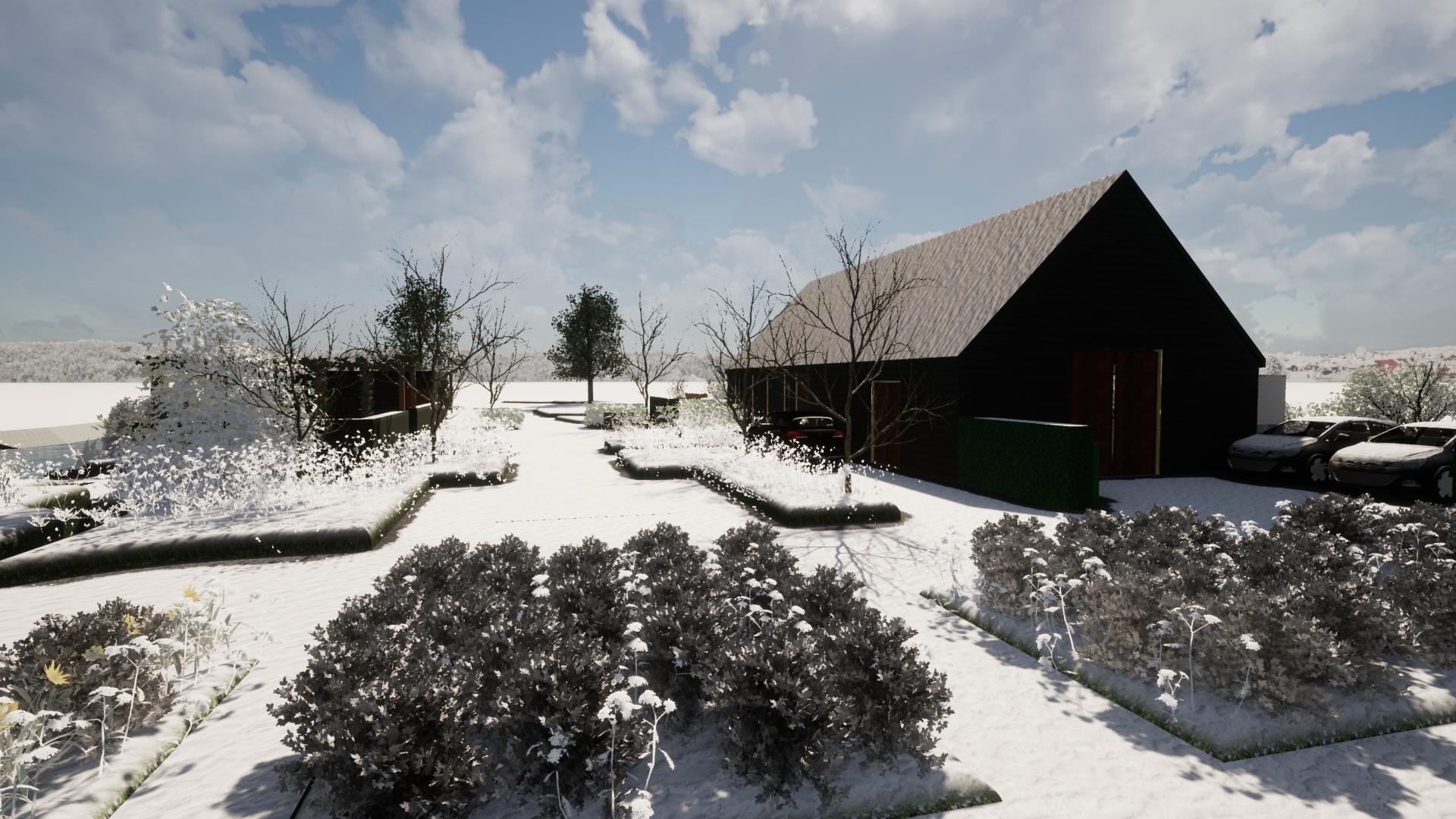 De tuin ook in de winter mooi met winterharde planten ©Groenerwaard